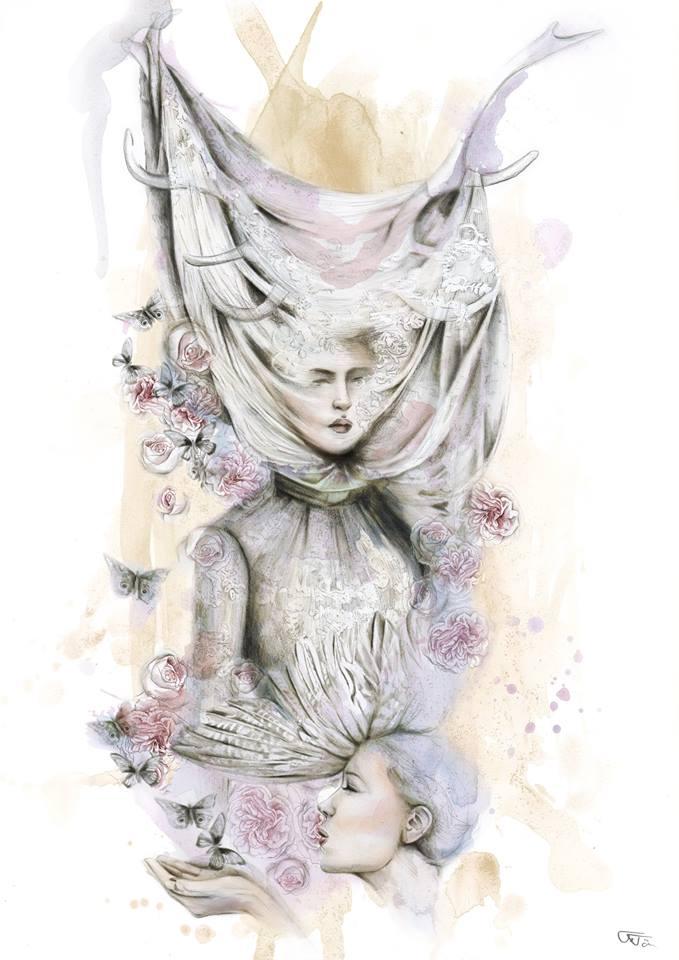 Alexander McQueen inspired Illustration-0